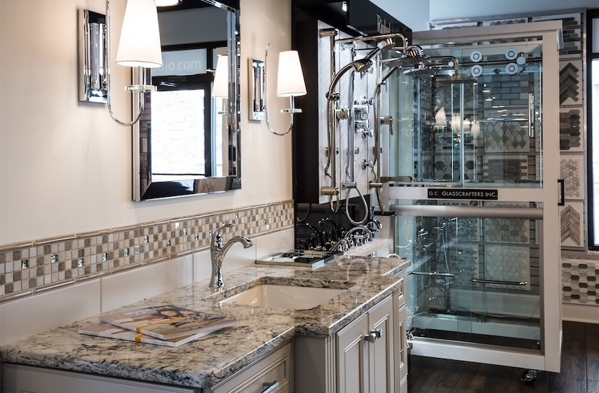 Vanity, Fixtures, and Shower Door Displays
