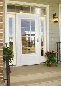 Larson Colonial Grid Design Storm Door