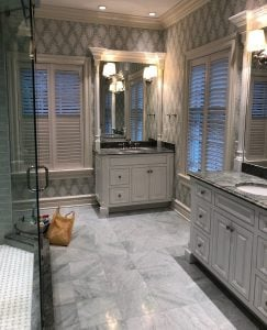 Painting Bathroom Vanities - Completed