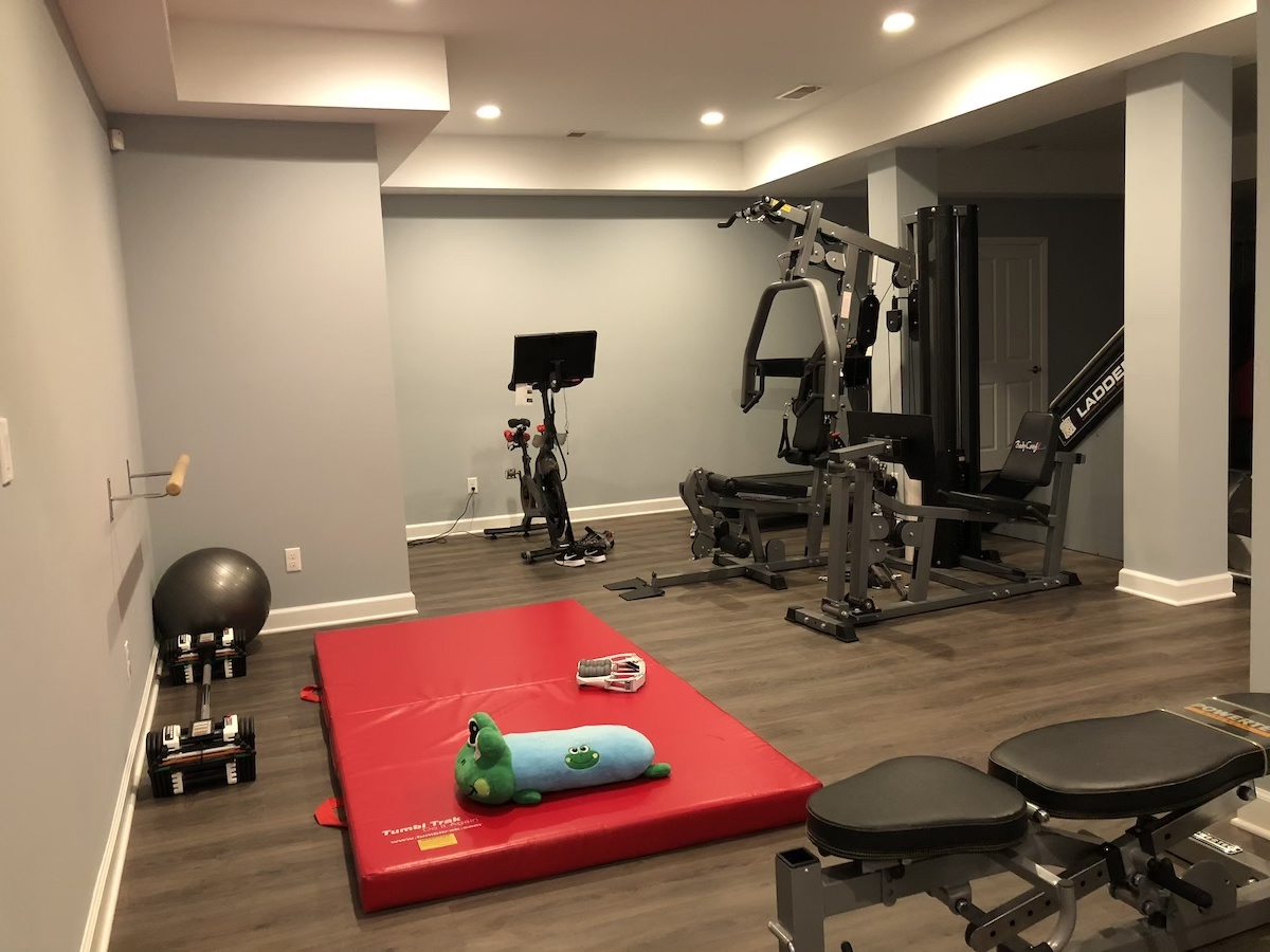 Gym Area In Basement