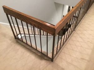 Existing Railing and Metal Spindles