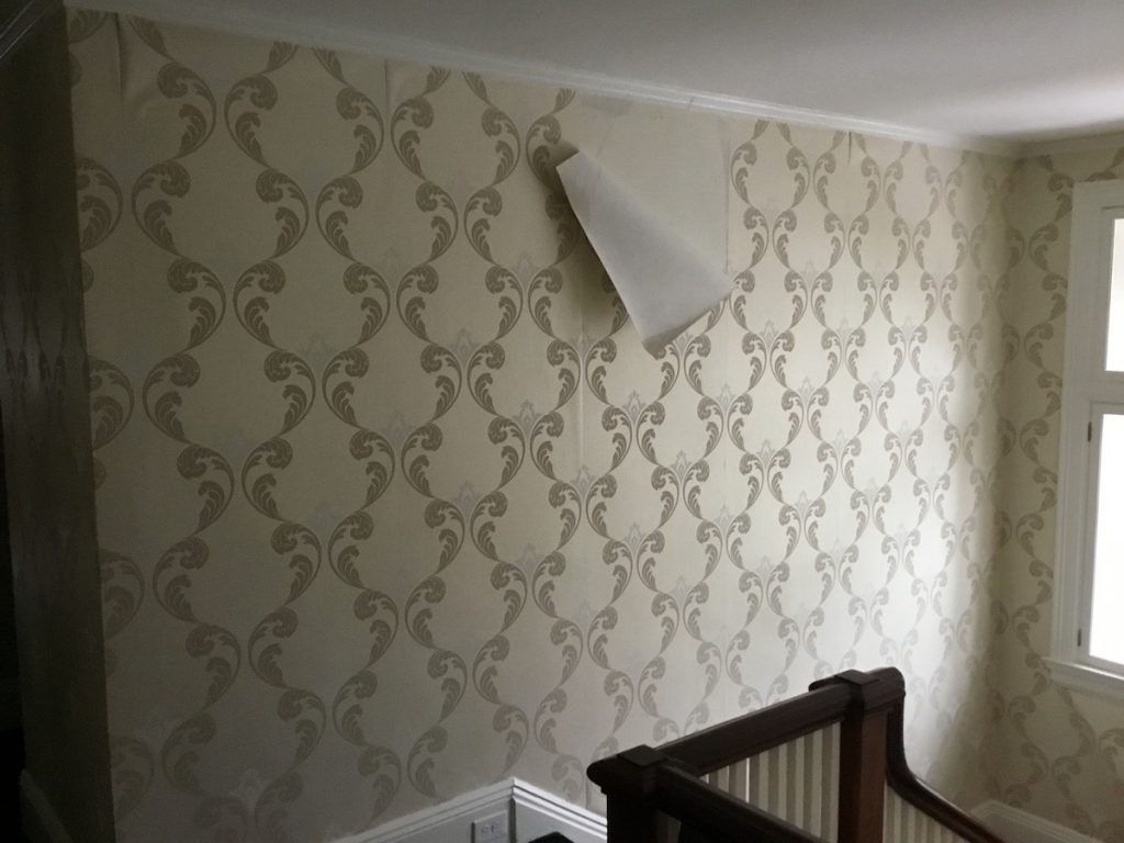 Before: Wallpaper in Stairway