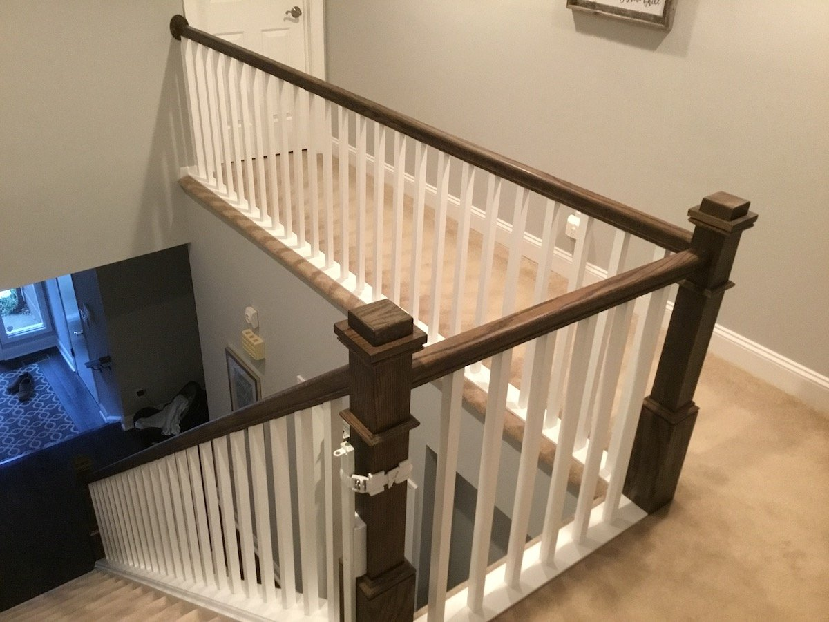 New Staircase Railing and Spindles - Monk's Home Improvements