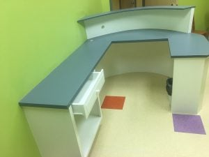 Finished Reception Desk