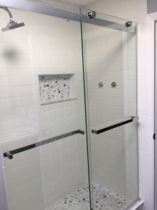 New Shower with Sliders and Shampoo Niche