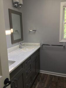 New Double Vanity with Quartz Top and Undermount Sinks