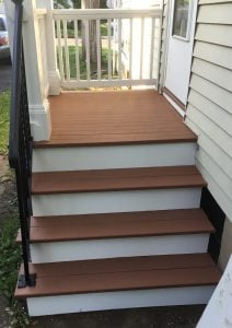 Repaired Stairs, New Railings and Columns