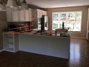 Existing L-Shaped kitchen Before Remodel