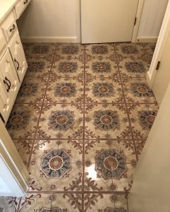 Ornate Floor Tile Before Replacement
