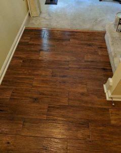 After - New Textured Wood-Look Floor Tile
