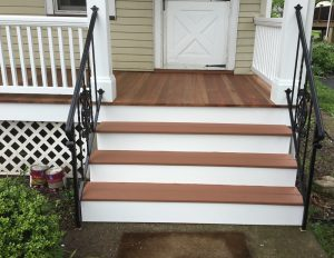 Front Stairs After Rebuild and Stain