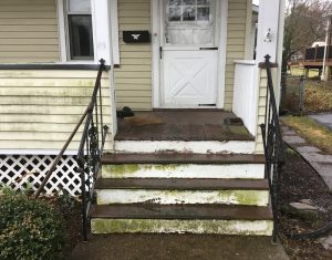 Front Porch Stairs Before