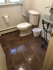 New Tile Floor in Capella Clay