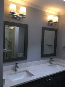 Another View of Vanity - New Faucets, Mirrors, Lights