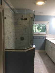 New Rounded Shower with Frameless Enclosure