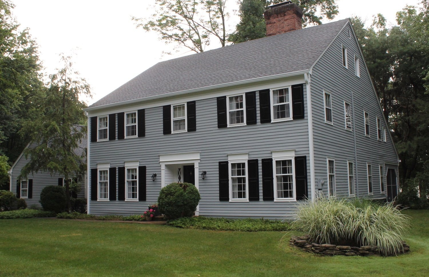 Completed Exterior Painting Project after Sanding, Priming and Painting