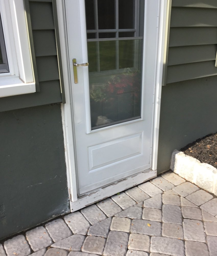 Rotted Door Trim