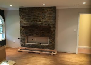 Fireplace Build In Progress