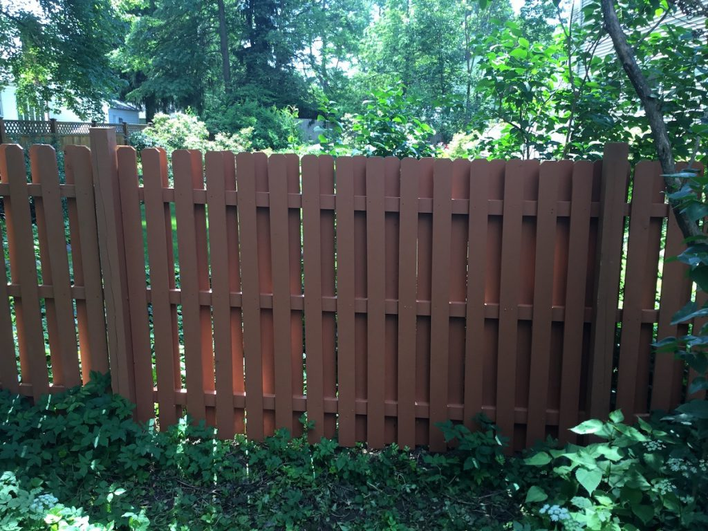 Rebuilt and Painted Fence