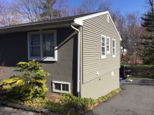 Updated Vinyl Siding and Foundation Painted Gray