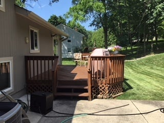Existing All Wood Deck