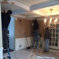 Finishing up the coffered ceiling
