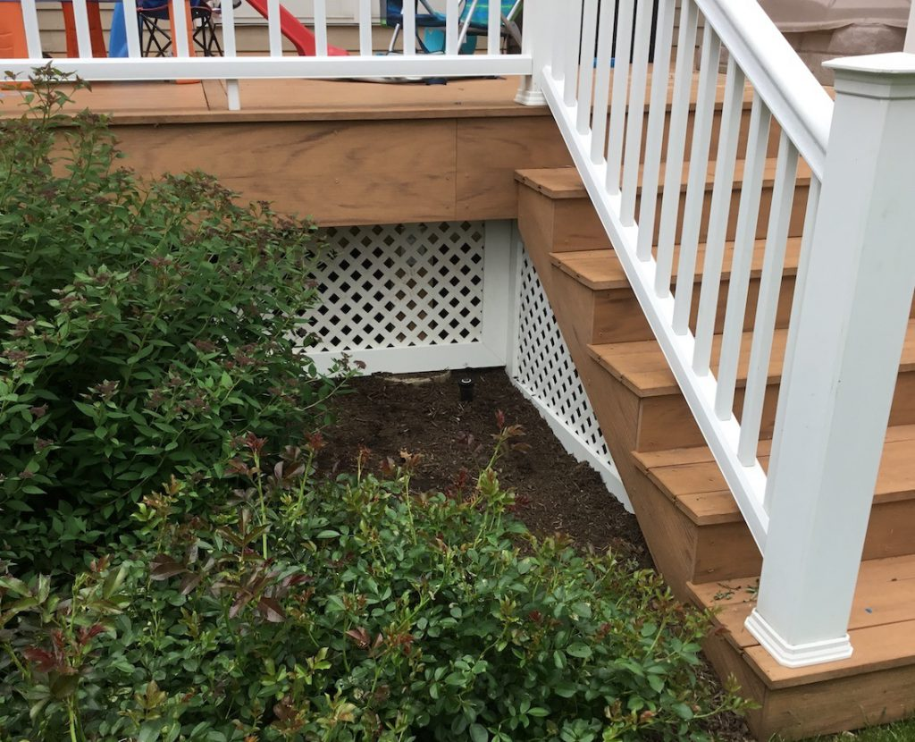 Composite Deck Skirting Under Stairs