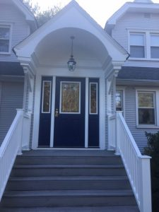 Repaired Portico and New Front Door