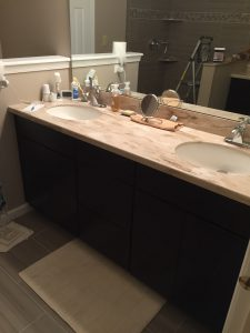New Vanity with Corian Tops