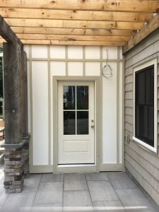 Patio Door and Addition Before Painting