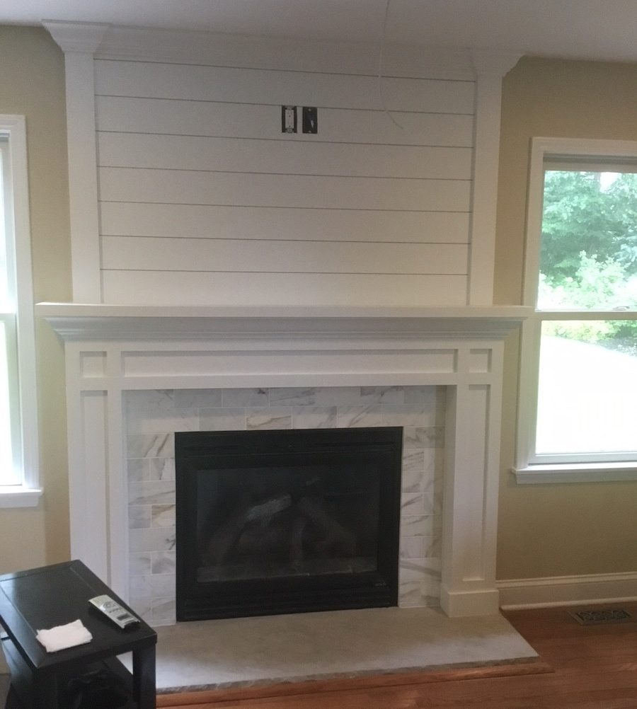 Fireplace With Shiplap And Tile Monk S Home Improvements