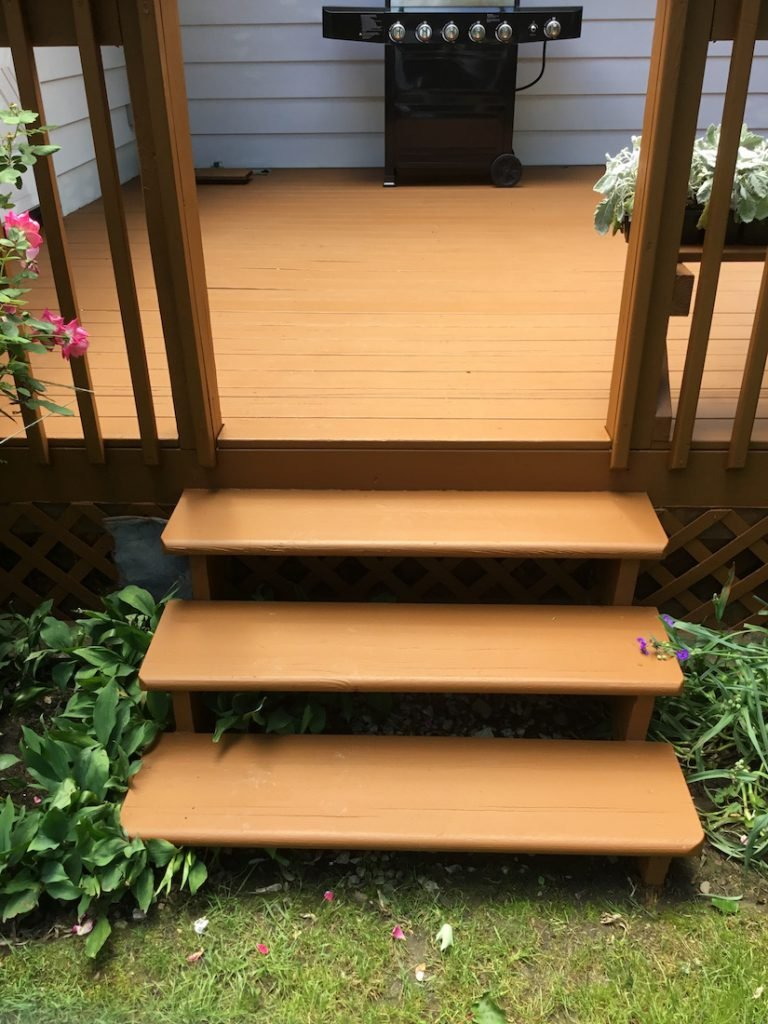 Applying a Solid Stain to Stairs and Floorboards