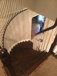 Painted Spindles, Stained Handrail