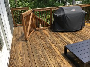 Freshly Stained Two-Story Deck