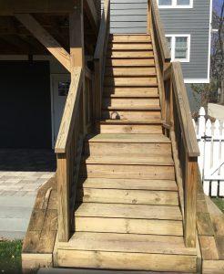 Worn Deck Stairs