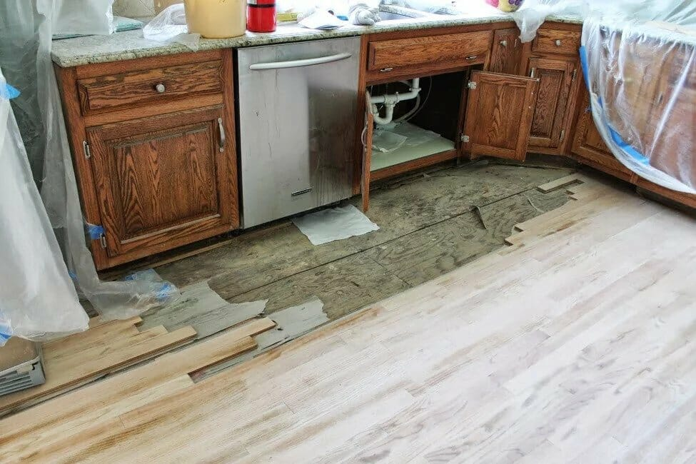 Damaged Floor Needs to be Patched and Refinished