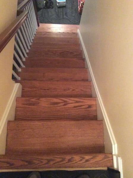Cherry Stain Stairs Before Refinishing