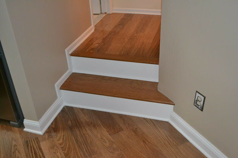 Extended Stair to Wrap Corner