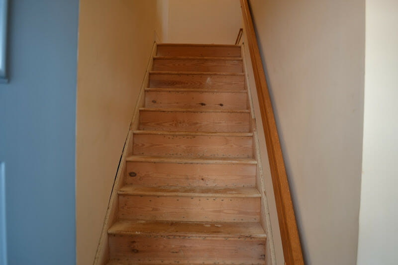 Refinishing Hardwood Stairs Before