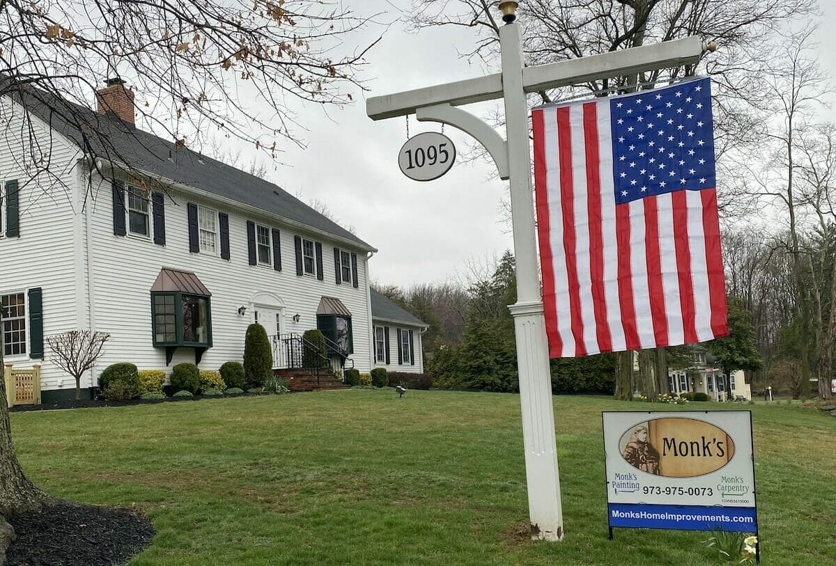Monk's Morristown Showroom with Flag Sign
