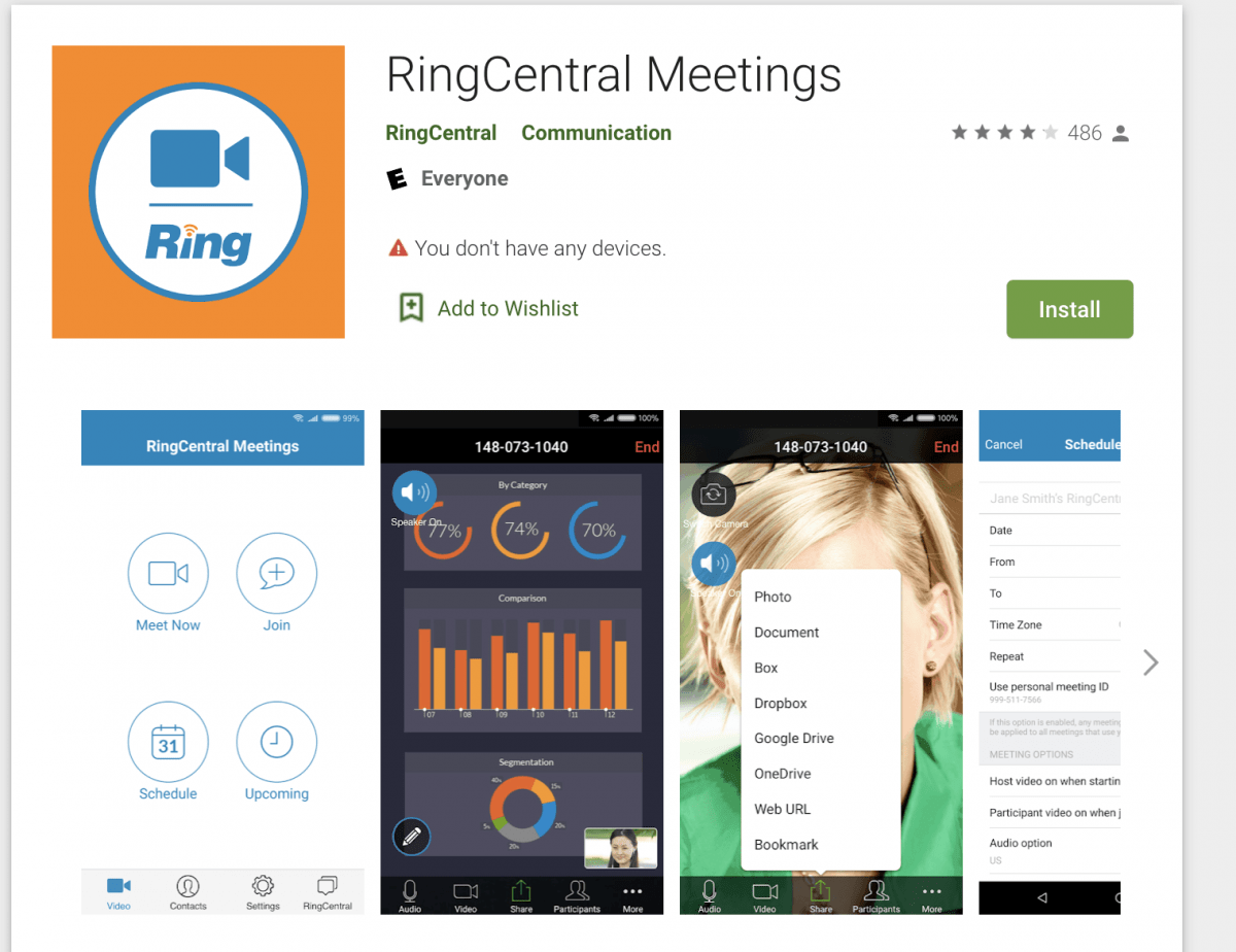 RingCentral Meetings on Android